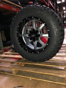 20 20x10 Moto Metal Mo970 Gray Wheels 35 Mud Tires Package 6x5 5 Toyota Tacoma