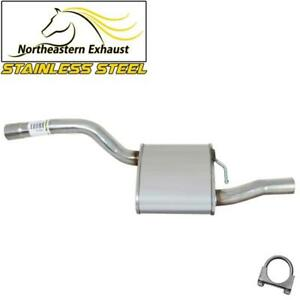 Stainless Steel Rear Muffler Fits 2000 2004 Ford Focus 2 0l