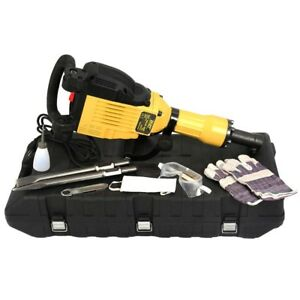 3600w Electric Demolition Concrete Jack Hammer Breaker W Carrying Case Tool Us