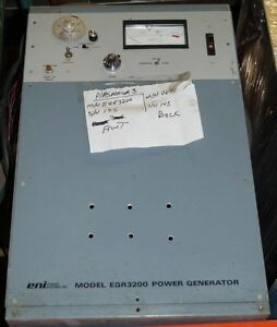 Eni Model Egr 3200 Plasma Rf Power Generator