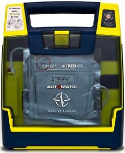 Cardiac Science G3 Automatic Aed Defibrillator New Battery Sealed 9 2020 Pads