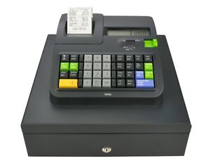 New Royal 310dx Cash Register Locking 4 slot Cash Drawer 24 Departments