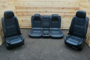 Set Front Rear Left Right Black Leather Sport Seat Oem Bmw X6 X6m E71 E72 08 14