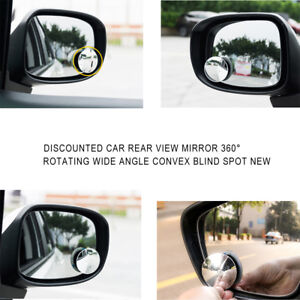 1pc Car Auto Rear View Mirror 360 Rotating Wide Angle Convex Blind Spot Clear