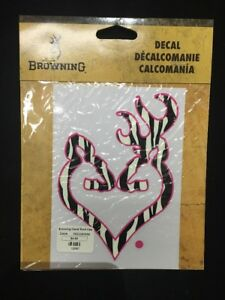 Browning Style Camo Buck Camouflage Hunting Sticker Pink Decal 10597