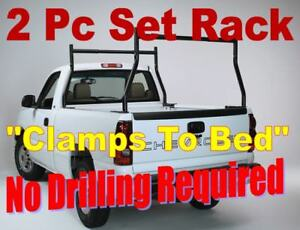 No Drilling Extendable Steel 500lb Pickup Truck Ladder Rack Lumber Pipe