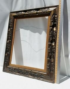 Mexico Carved Wood Picture Frame Vintage 26 X 31 5