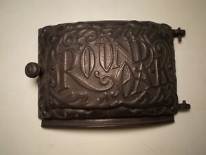 Antique Cast Iron Ornate Round Oak M20 Wood Stove Door Pd Beckwith Very Nice