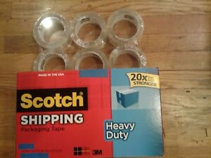 3m Scotch Heavy Duty Shipping Tape 20x Stronger 1 88 In X 54 6 Yd 6 Pack