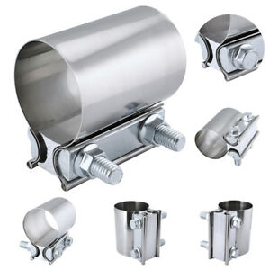 Stainless Steel Exhaust Clamp 2 5inch Exhaust Downpipe Sleeve Clamp Butt Joint