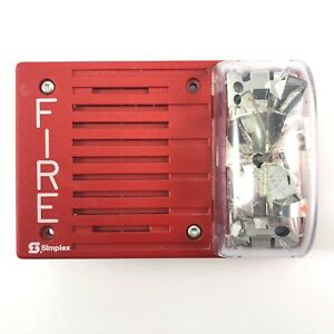 Simplex Fire Alarm Strobe With Horn Red Wall Mount 4903 9238