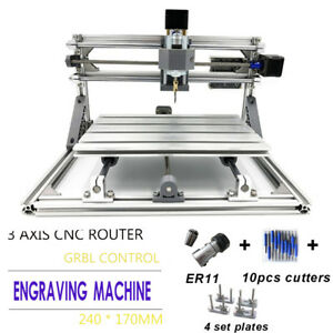 Mini Usb 3 Axis Cnc 2417 Engraving Machine Milling Pvc Pcb Desktop grbl Control