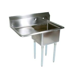 John Boos E Series Stainless Steel Sink 12 Deep 1 Compartment Commercial Use