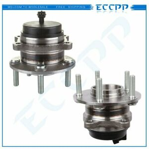 2 Rear Wheel Hub Bearing Assembly Pair Set Fits Sorento Santa Fe 07 16 W Abs