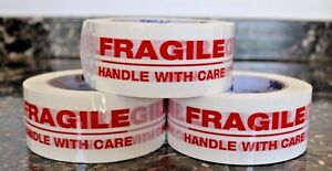 Choose 1 72 Roll Fragile Handle With Care 2 x110 Yds Security Sealing Tape 2x110