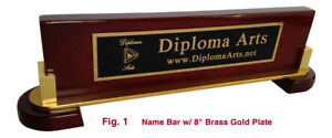 Office Desk Name Bar Rosewood Piano Finish Personalized Custom Name Plate
