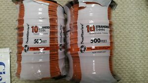 2 New Rolls Of Southwire 1000ft 500x2 10 Gauge Copper Stranded Thhn Wire Orange