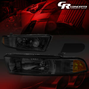 Left right Smoked Housing Amber Side Headlight lamp For 99 03 Mitsubishi Galant