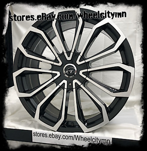24 X9 Inch Black Vct V78 Wheels Rims Fits Dodge Charger Challenger 5x115 15