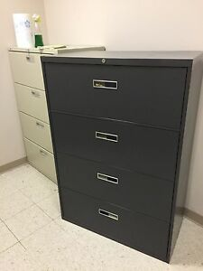 4 Drawer Lateral Size File Cabinet By Steelcase 800 Series 36 w W lock
