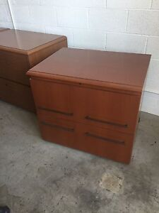 2 Drawer Lateral Size File Cabinet By Haworth Office Furniture In Cherry Wood