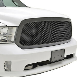 Fit13 18 Dodge Ram1500 Grille Abs Black Carbon Fiber Look Mesh Shell Replacement