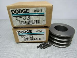 Dodge 455146 Sheave 3 Belt Pulley 3 3v2 65 ja Lot Of 2