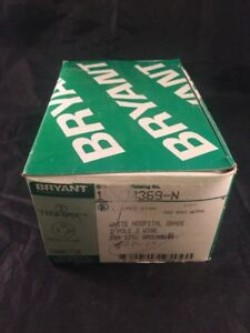 Bryant Hubbell 8369n Hospital Grade Connector Nema 5 20p 20a 2 Pole Box Of 10