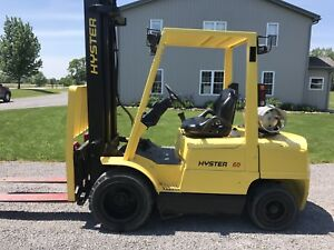 1999 Hyster Forklift S60xm 6 000 Lb Lift Lp Gas Three Stage Mast Mazda Engine