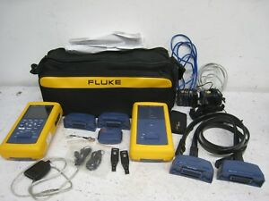 Fluke Dsp 4300 Digital Cable Analyzer Tester Set W Attachments