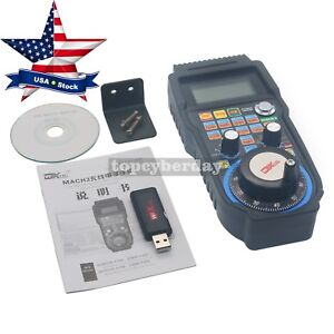 Cnc Mach3 Wireless Electronic 4 axis Manual Controller Usb Handle Mpg Us