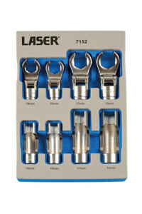 Laser Tools 7152 Window Socket Crows Foot Wrench Set 8pc