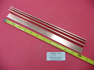 4 Pieces 1 8 X 3 4 C110 Copper Bar 12 Long Solid Flat Mill Bus Bar Stock H02