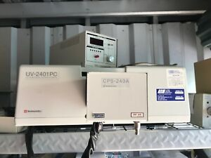 Shimadzu 2401 Uv vis Spectrophotometer With Kinetics Package Inc Cps Controller