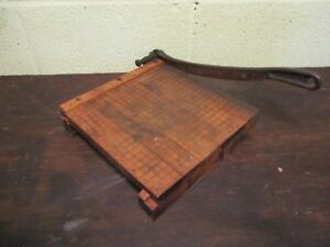 Vintage Ingento No 3 Paper Cutter working Blade 10 1 2 By 10 Ideal School