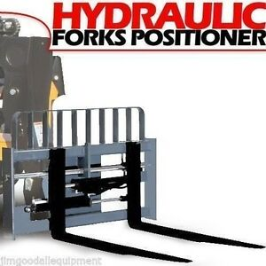 60 Jcb Q Fit Hydraulic Telehandler Forks Positioner With Forks By Bradco