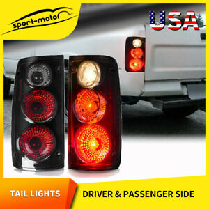 For 1989 1995 Toyota Pickup Altezza Style Tail Lights Black Smoke Rear Lamp Pair