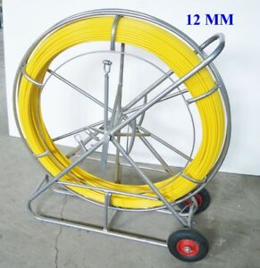 New 12mm Fish Tape Fiberglass Wire Cable Rod Duct Rodder Puller 170553