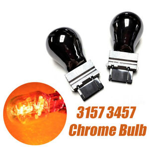 T25 3057 3157 4157 Reverse Backup Lights Amber Chrome Bulb A1 For Chevrolet A