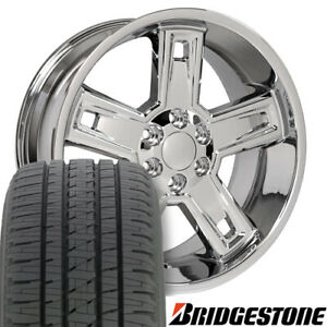 22 Rims Tires Fit Gm Chevy Sierra Silverado Dd Chrome Wheels Bda Tires 5664