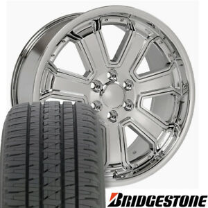 22 Rims Tires Fit Gm Chevy Sierra Silverado Dd Chrome Bda 5661