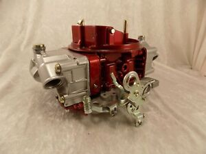 Holley 3310 2 Powdercoated Candy Red silver Carburetor Restored