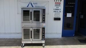 Double Stacked Hobart Hgc5 10 Convection Oven W casters Natural Gas 3214