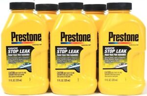 5 Prestone Radiator Stop Leak Also Water Pumps Heater Cores Protects 11 Oz