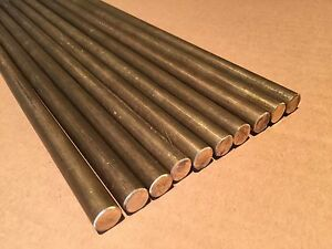 lot Of 10 0 5 1 2 Dia X 12 Long C36000 360 Brass Round Rod Bar