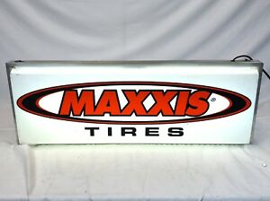 Vintage 34 Maxxis Bike Shop Retail Lighted Rectangle Plastic Light Window Sign