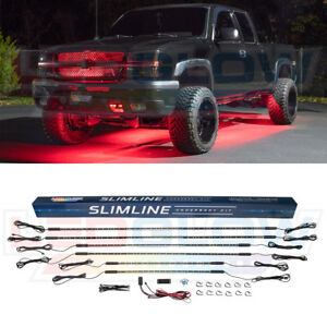 Ledglow Red Slimine Smd Led Truck Neon Underbody Lights Kit W 6 Tubes 160 Leds