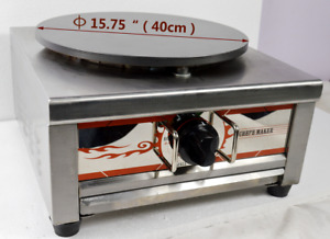 Commercial Pancake Fruit Machine Single Head Natural Gas Crepe Maker 2000pa