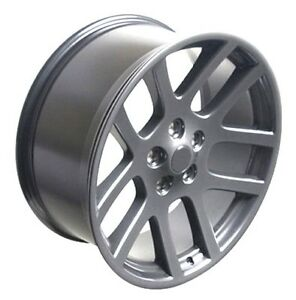 22 Dodge Ram 1500 Srt Style Replacement Wheels Rims Gunmetal New Set Of 4 2223