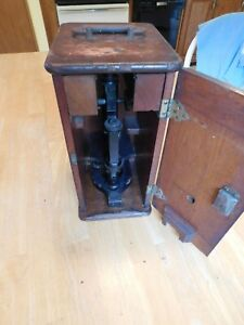 Antique Bausch Lomb Microscope W case And Accessories Patn 8 24 1897